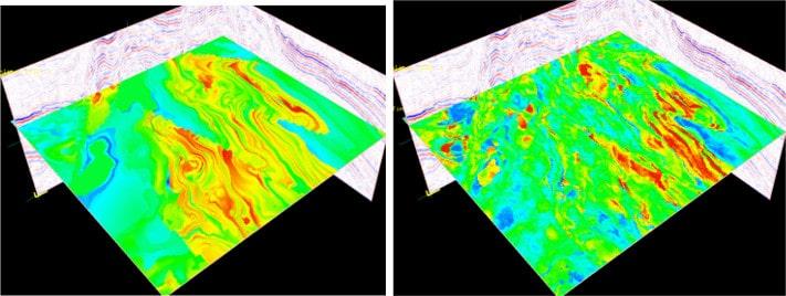 Det er fullt ut mulig å utnytte de enorme mengdene med data om undergrunnen som faktisk fins i de seismiske dataene. Til det trenger vi dyktige geofysikere som kan teorien og liker matematiske likninger. Heldigvis er det mange slike rundt omkring. Illustrasjon: StatoilHydro