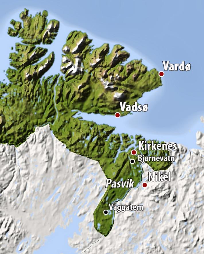 Kart Pasvikdone