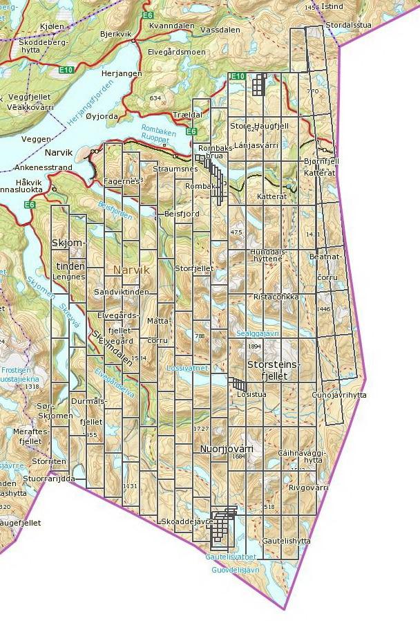 Fra Rombaken i Nordland, et område mellom Narvik og svenskegrensen, har NGU publisert både magnetiske, radiometriske og elektromagnetiske data etter fjorårets helikoptermålinger. Disse har blitt sammenstilt med geokjemiske og geologiske data, slik at prospektiviteten kan bli vurdert på et godt faglig grunnlag. Med unntak av noen få rettigheter som Gexco sitter på, har Klosters Rederi nå sikret seg leterettighetene til hele dette svære området (utstedt 24.11.11) som totalt dekker ca. 1500 km2. Bergrettighetskartet over Narvik vist her er oppdatert per 11. januar 2012.  Kilde: Direktoratet for mineralforvaltning