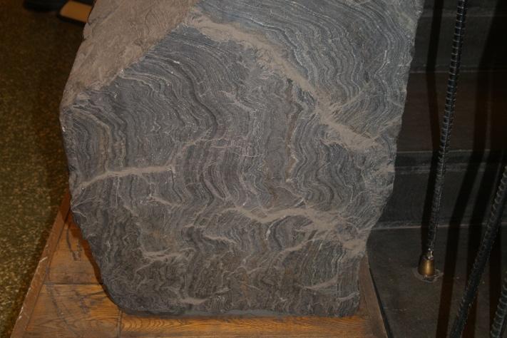 Et eksemplar av jernmalmen er utstilt på Sør-Varanger museum i Kirkenes. Foto: Halfdan Carstens
