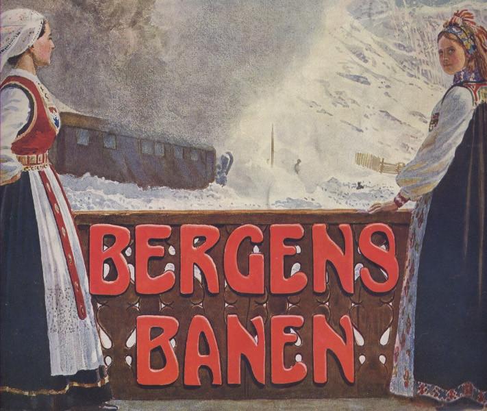 Nettopp det nasjonale argumentet var viktigst i et hefte om Bergensbanen som ble utgitt i 1909. Det var laget for å trekke turister til landet, og viser på kraftfullt vis hvordan det moderne transportmiddelet i høyt tempo brøyter seg over noe av det norskeste av alt - fjellet.