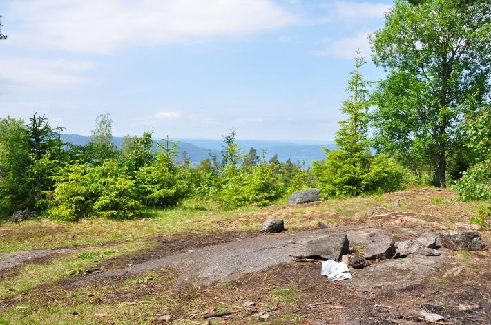 På toppen av vulkanen. Slik ser det ut i dag, med utsikt over Randsfjorden og forkastningen som begrenser Oslofeltet i vest, men for 300 millioner år siden var det betydelig varmere. Foto: Halfdan Carstens
