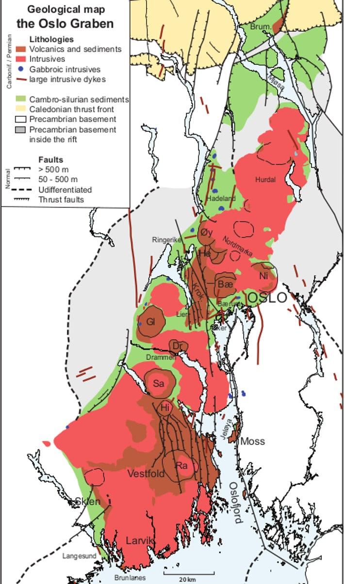 Berggrunnen i Oslofeltet gir mange steder et næringsrikt jordsmonn, og den bidrar derfor sterkt til at det indre av Østlandet er tett befolket. Men berggrunnen er også årsaken til at befolkningen har en mangfoldig natur å boltre seg i. Å sykle innenfor Oslofeltet er bare én måte å oppleve dette eldoradoet på.