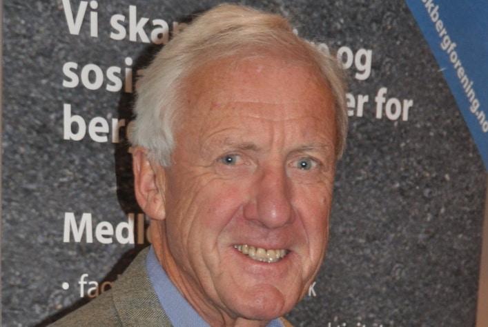 Olav Markussen er bergingeniør og mangeårig leder av norske bergverksbedrifter. Foto: Halfdan Carstens