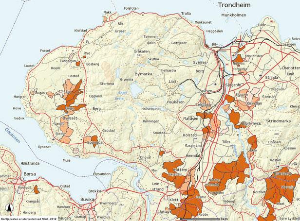 kart byneset Geo365 | Liten bekk veltet stort lass kart byneset