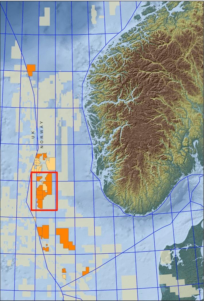 Lundin er godt etablert på og rundt Utsirahøyden. Oransje farge viser hvor selskapet er operatør. Gul farge viser hvor det er en partner. Luno ligger i blokk 16/1, mens det nye funnet Avaldsnes ligger i blokk 16/2. I mellom de to funnene ligger Ragnarrock som Statoil er operatør for. Lundin har byttet til seg andeler i lisensene som funnet ligger i. © Lundin Petroleum