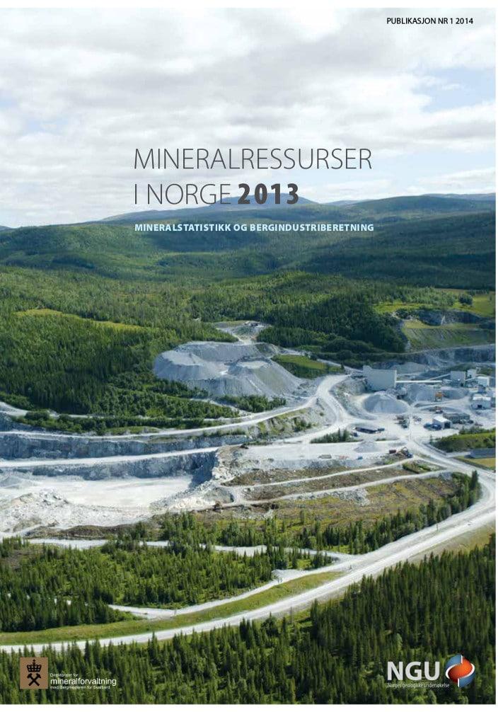 Mineralressurser i Norge 2013 er utarbeidet i fellesskap av Norges geologiske undersøkelse og Direktoratet for mineralforvaltning.