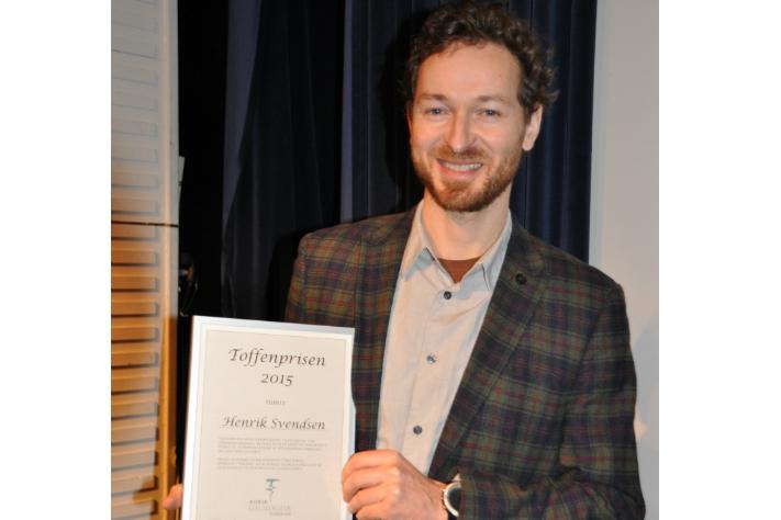 Henrik Svensen har vårt interessert i formidling i en årrekke og ble i år en verdig vinner av Toffenprisen. Foto: Halfdan Carstens