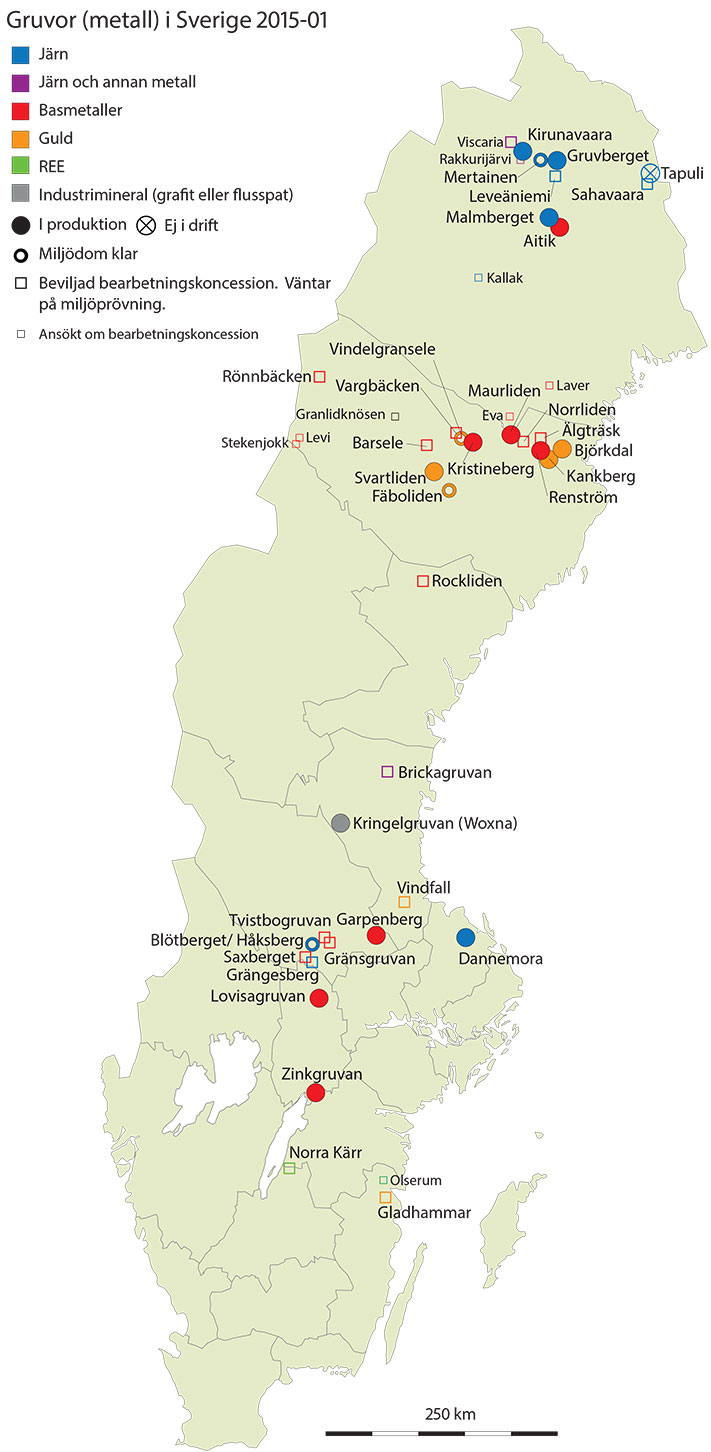 Gruvekart Sverige