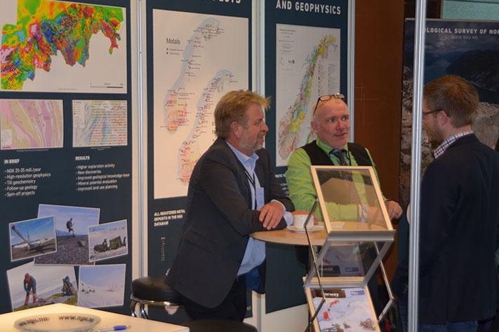 NGU sterkt til stede Norge var rimeligvis ikke godt representert på FEM. Men NGU promoterte de mulighetene som de internasjonale gruveselskapene har i Norge. Foto: Halfdan Carstens