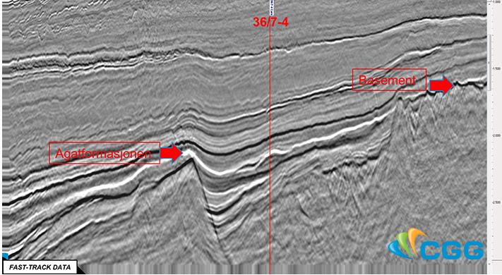 Linjen er fra CGGs 3D-survey NVG som dekker store deler av den nordlige Nordsjøen. © CGG