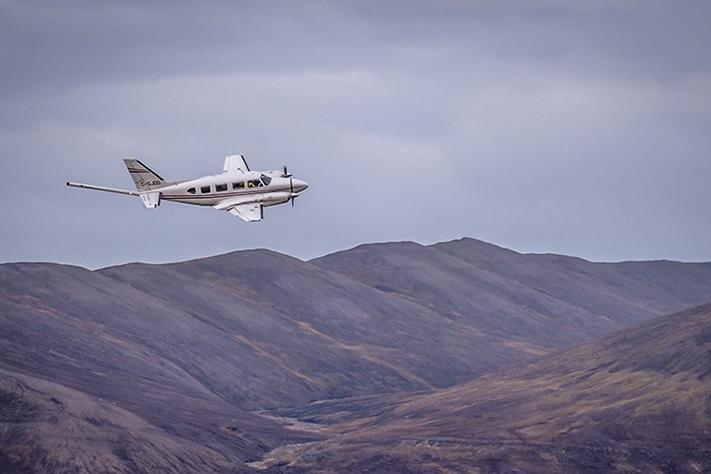 Flymålingene utenfor Svalbard blir også en del av prsojektet EPOS. Prosjektet har som mål å overvåke jordens indre deformasjonsprosesser - og kartlegge konsekvensene for jordoverflaten. Foto: Yannick Belley, Novatem