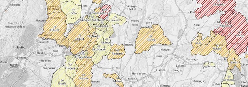 Kartlegging av fare- og aktsomhetsområder. Kilde: NVE Atlas