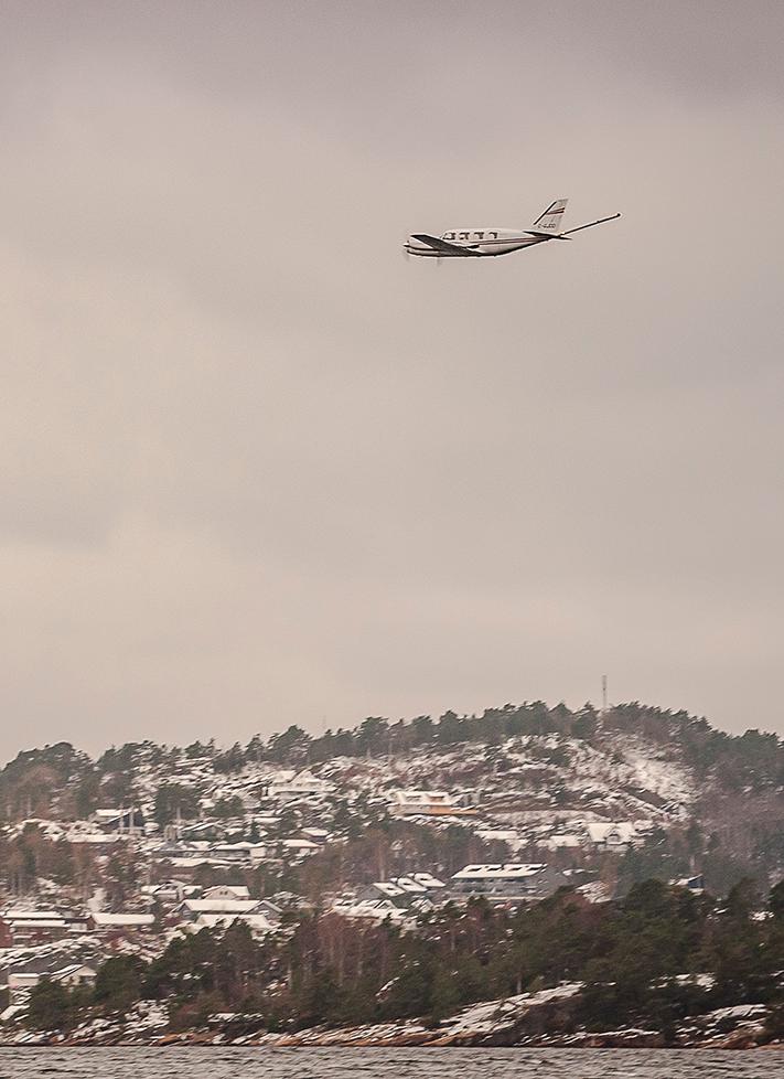 Flyet som det canadiske selskapet Novatem benyttet da det i oktober/november fløy 31000 km for NGU mellom Mandal og Kragerø. Foto: Yannick Belley, Novatem